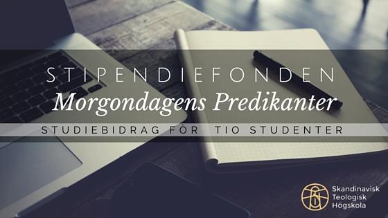 Sök Församlingsledarutbildningen och studiestöd via Stipendiefonden Morgondagens Predikanter!