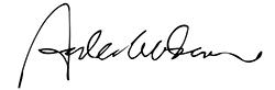 Anders Gerdmar - signatur